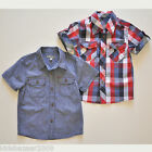 Pumpk*n P*tch Boys Blue Stripe/Check Shirt Sz6-12M/12-18M/24M/3/4/6/8/9/10/11/12