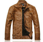 Britpop New Fashion Mens leather motorcycle coats jackets washed leather coat