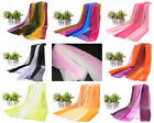 Women Gradient Rainbow Color Silk Feel Scarf Bandana Summer Spring hijab