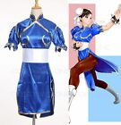 Street Fighter Chun Li ChunLi Blue Dress Cosplay Costume Standard Size Sale