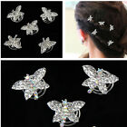 6Pcs Wedding Party Crystal Dragonfly Hair Twists Spins Pins Hair Clips Women