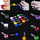 Lot 100 Clip Retractable Reel ID Badge Holder Key Chain Reel With Metal 2015 Hot