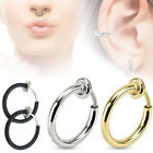 COOL 3 Colors Fake Spring Action Non Piercing Nose Septum/Ear Cartilage Ring