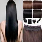 Unbranded One Piece Clip in Remy Human Hair Extensions Fu...