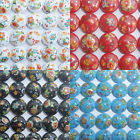 14 x Acrylic Lentil Beads with Flower Pattern 16mm - Choose Colour