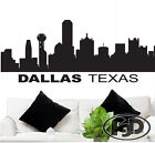 """Wall Decal Sticker Dallas Texas Skyline 22"""" Tall 55"""" Wide in White or Black"""
