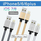 LP 1M Braided Lightning Charger USB Data Cable For iPhone 5S/5C/6 iPad Mini 2 3