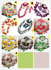 Coconut Shell Wood Round Beads Necklace Bracelet Earrings Jewlery Set Option