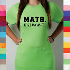 Math It's As Easy As Pi Calculus Trigonometry Teacher School Funny T Shirt R14