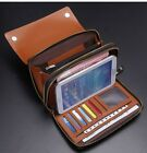 Men Real Leather Business Casual Clutch Handbag Wallet Organizer Purse Checkbook