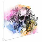 Awesome Watercolor Skull Canvas Art Cheap Wall Print Home Interior