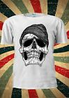 Dope Skull Black And White GEORDIE Tumblr Fashion T Shirt Men Women Unisex 1787