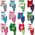 Hot! 2 Sets! Cotton Sleepwear Pajama Sets for Baby Toddler Kids Boys 1T~6T