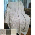 """100% Irish Pure Wool Honeycomb Throw - 60"""" X 50"""" by West End Knitwear"""