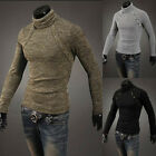 Top fashion Mens Slim Fit Pullover Cardigan Sweater Coat Turtleneck Knitwear