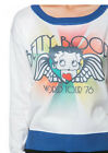 Retro Betty Boop Licensed World Tour Sweat Top Long Sleeve Shirt Jumper 50s