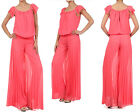 women's jumpsuit romper palazzo pants pleated jumpsuits outfit