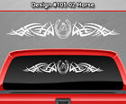#105-02 Horse Horseshoe Back Window Decal Sticker Vinyl Graphic Tribal Car Truck