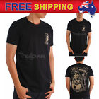 AU New Men's Black T-shirt Classic Hot Rod Car Vintage Race Tool Choppers M-XXL