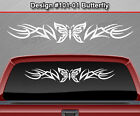#101-01 BUTTERFLY Rear Window Decal Sticker Vinyl Graphic Tribal Accent Design