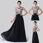 Chiffon Satin Long Bridesmaid Cocktail Prom Party Ball Gown Formal Evening Dress