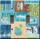 Light Switch Plate Cover - Surf boards pattern - Sport water palm flower decor