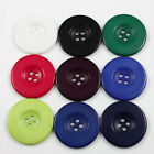 4 ROUND COLOURED ACRYLIC BUTTONS 38mm *9 COLOURS HABERDASHERY DRESSMAKING FABRIC