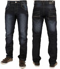 MENS JEANS EZ253 BLUE DARK WASH STRAIGHT FIT SPECIAL PRICE JEANS  SIZES 28 - 48