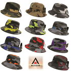 NEW AUTHENTIC ACCESS UNISEX CAMO BUCKET HAT BASIC HUNTING FISHING OUTDOOR CAP