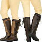 ADULTS LONG HORSE RIDING COUNTRY LEATHER BOOTS ALL SIZES 3-10 STABLE MUCKER TALL