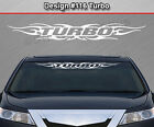 #116 TURBO Windshield Decal Window Sticker Vinyl Graphic Tribal Flame Car Banner