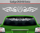 #165-02 Horse Horseshoe Rear Window Decal Sticker Graphic Tribal Accent Car SUV