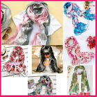 HAShop 100% viscose Floral pattern long scarf - 7 Colors