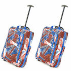 2 x Luggage Travel Holdall Bag Baggage Wheel Suitcase Cabin Bag fits 55x40x20