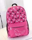 Fashion Women Canvas Horse Printing Travel Satchel Shoulder School Backpack Bag