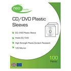 NEO CD DVD DISC CLEAR COVER CASES PLASTIC 120 MICRON SLEEVE WALLET