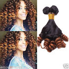 New Human Hair Extensions 10''-30'' Funmi Curly Hair Ombre Hair 1B/30# 50g/pc