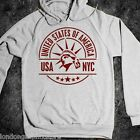 American flag, statue of liberty, independence day, 4th of july, US, NYC hoodie
