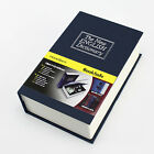 New Metal Dictionary Book Cash Jewelry Homesafe Home Security Key lock Box Case