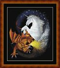 UNICORN v DRAGON -14 COUNT CROSS STITCH CHART PDF/PRINTED  FREE PP WORLDWIDE