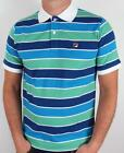 Fila Vintage - Smuggler Striped Polo in Blue, Green & White / SALE REDUCED
