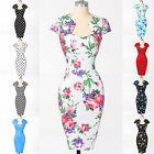 FREE P&P VINTAGE Rockabilly Evening Party Pencil Short Prom Wiggle Slim Dresses