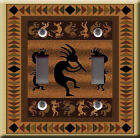 Light Switch Plate Cover - Kokopelli flute player - Indian pattern culture god