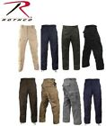 Solid Colors 6-Pocket Military Tactical Poly/Cotton BDUs Cargo Fatigue BDU Pants