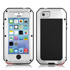 For i Phone 5 5s 4 Full Protective Aluminum Alloy Case with Gorilla Glass Screen