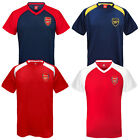 Arsenal Football Club Official Soccer Gift Mens Poly Training Kit T-Shirt