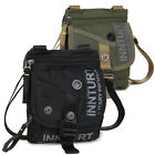New Men's Sport Travel Waist bag Small Shoulder Messenger bag Black Green nylon