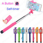Extendable Wired Remote Shutter Handheld Selfie Stick for Cell Phone Galaxy Note