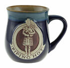 "Stoneware ""Piping Hot"" Mug with A Scottish Piper - Available in 2 colours"
