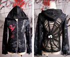 Punk Rave Gothic Visual Kei Womens Mens Black Coat Jacket Steampunk S M L XL Y23